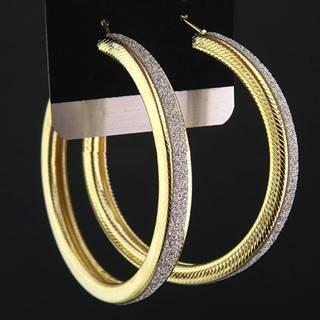 Náušnice Big Circle Charm - Zlatá