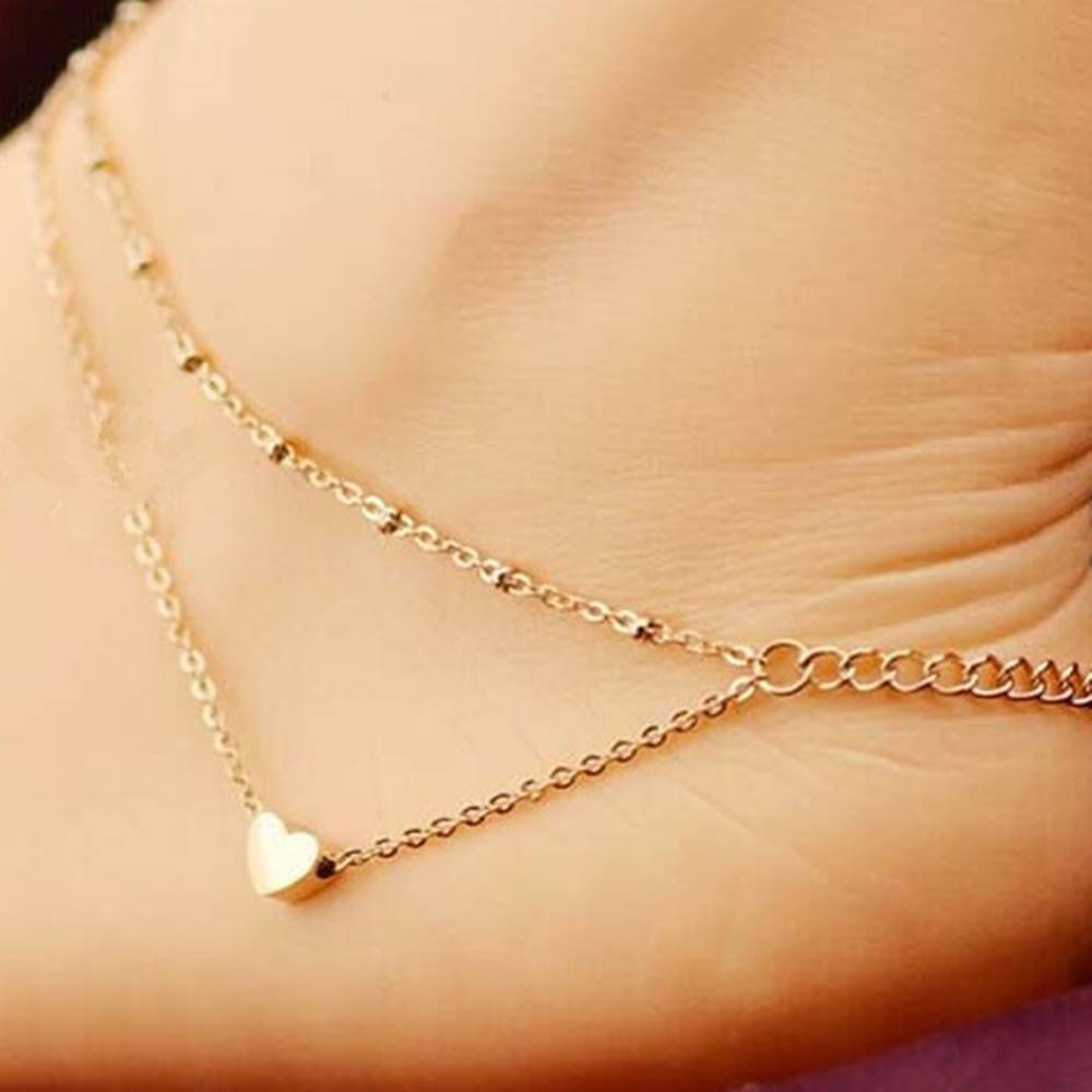 Izmael Náramok na nohu Simple Love-Zlatá