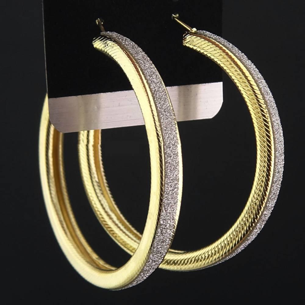 Izmael Náušnice Big Circle Charm - Zlatá