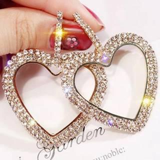 Náušnice Bijoux Heart-Zlatá