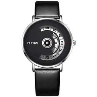 Pánske Hodinky DOM Luxury-Čierna/Biela