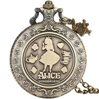 Vreckové Hodinky Alice-Zlatá