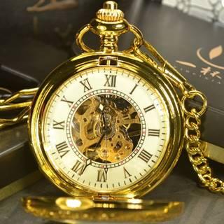 Vreckové Hodinky Luxury-Zlatá