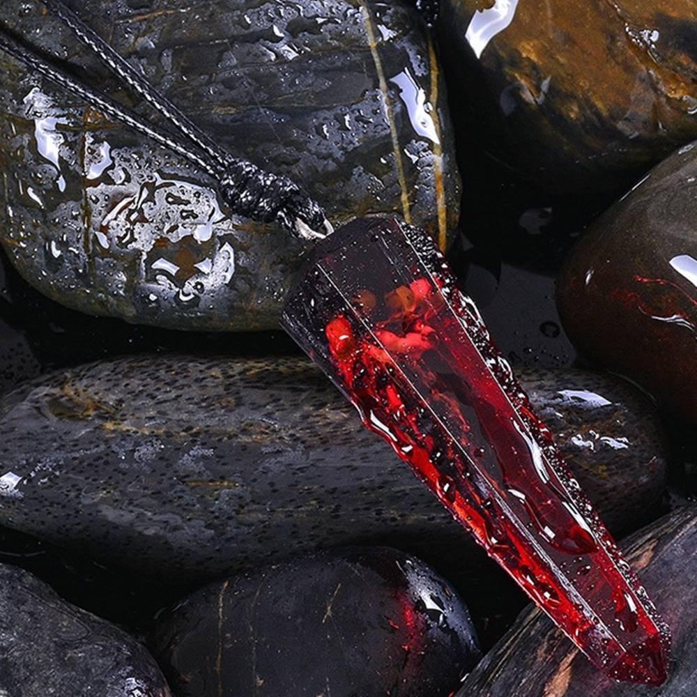 Izmael Náhrdelník Stone Resin-Červená