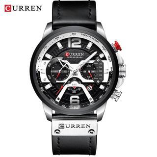 Hodinky Luxury CURREN-Čierna/Strieborná