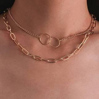 Náhrdelník Rings-Zlatá