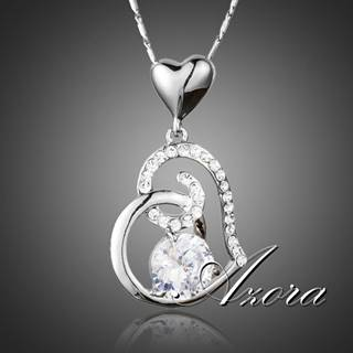 Náhrdelník Heart AZORA - Strieborná