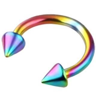 5x Piercingova náušnica Spike-Multi