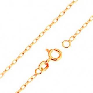 Retiazka v žltom 9K zlate - hladké oválne očká, vzor Rolo, 500 mm