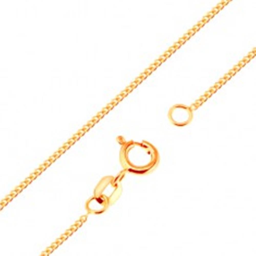 Šperky eshop Retiazka zo žltého 9K zlata - husto spájané ploché oválne očká, 500 mm
