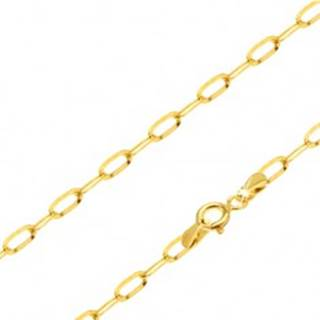 Retiazka zo žltého 14K zlata - lesklé podlhovasté hladké očká, 450 mm