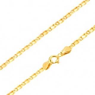 Retiazka zo žltého 14K zlata - prepojené oválne očká, zarovnané, 500 mm