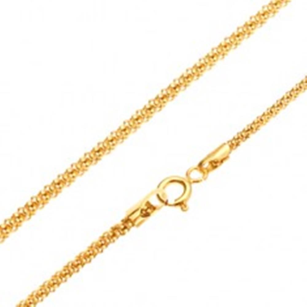 Šperky eshop Zlatá retiazka 585 - lesklý štrukturovaný hadí vzor, okrúhly prierez, 520 mm