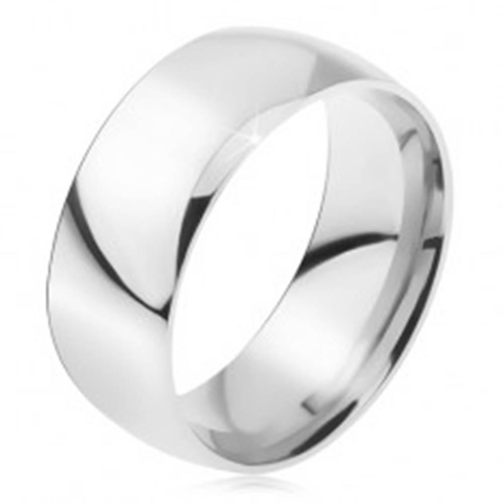 Šperky eshop Obrúčka z ocele 316L, lesklý hladký povrch, 8 mm - Veľkosť: 49 mm