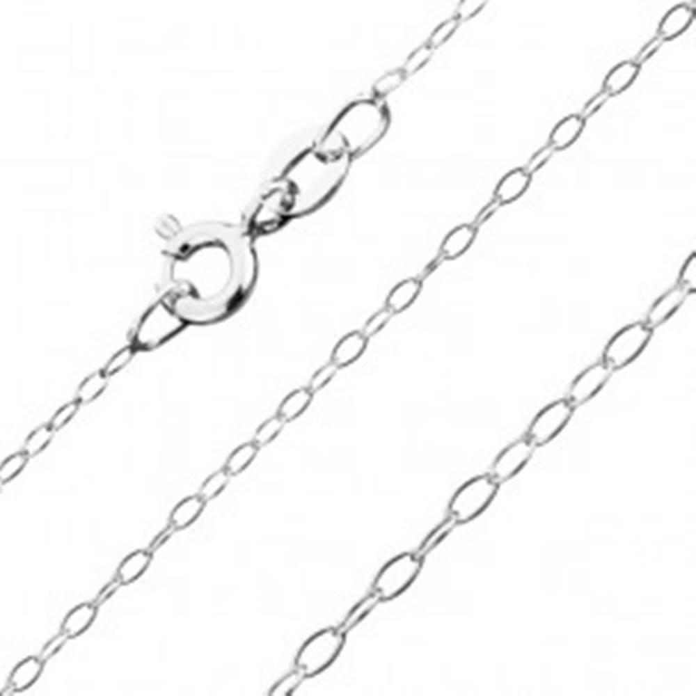 Šperky eshop Retiazka zo striebra 925, jemné oválne očká, 1,3 mm