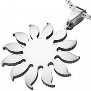Prívesok z chirurgickej ocele - motív slnečnica, strieborná farba