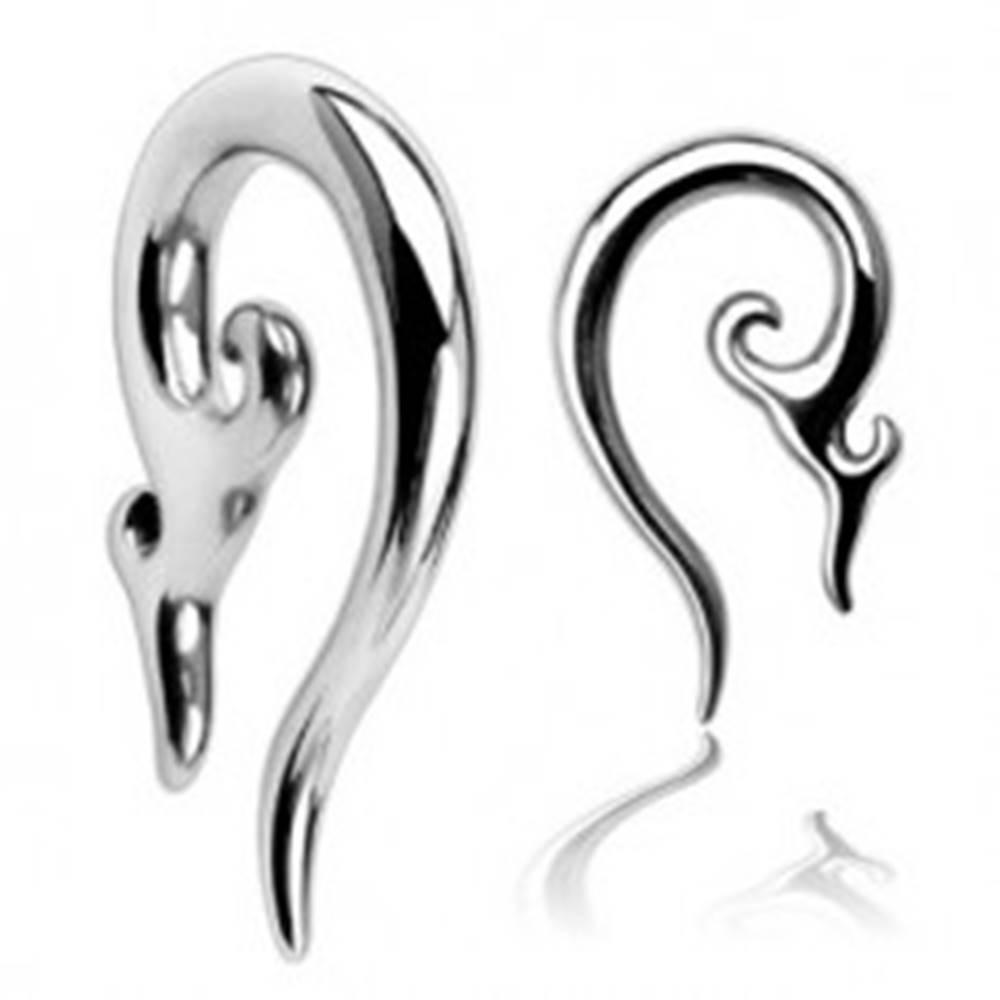 Šperky eshop Piercing do ucha z chirurgickej ocele - ornamentálna špirála - Hrúbka piercingu: 2,4 mm