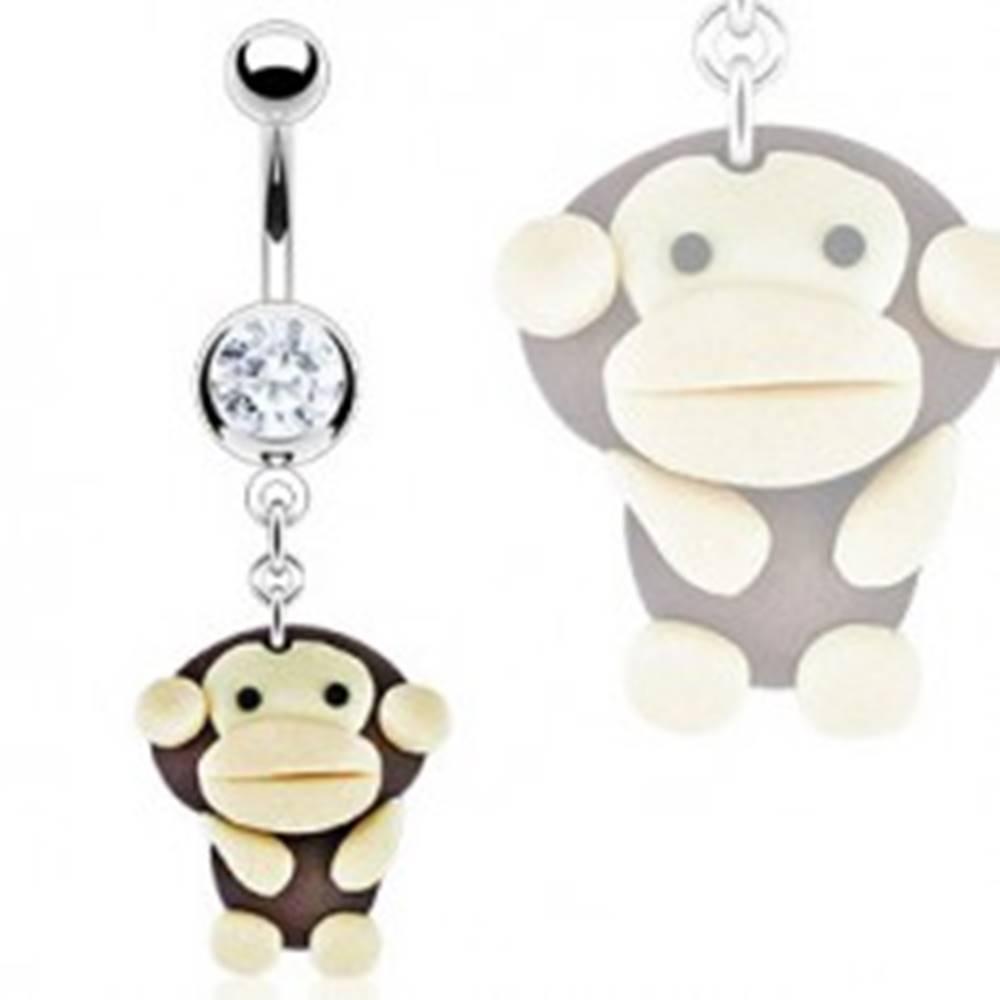 Šperky eshop Piercing do brucha - prívesok Fimo opica