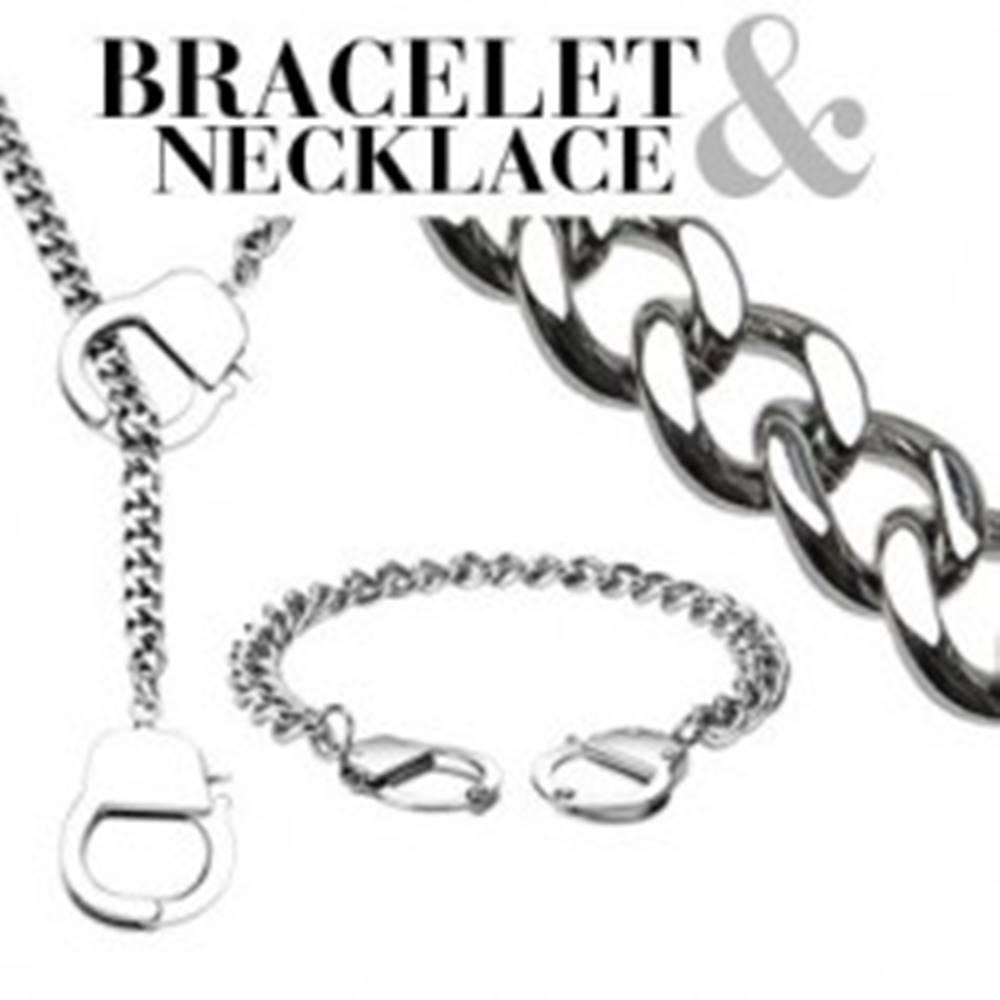Šperky eshop Retiazkový set - náramok a náhrdelník s putami