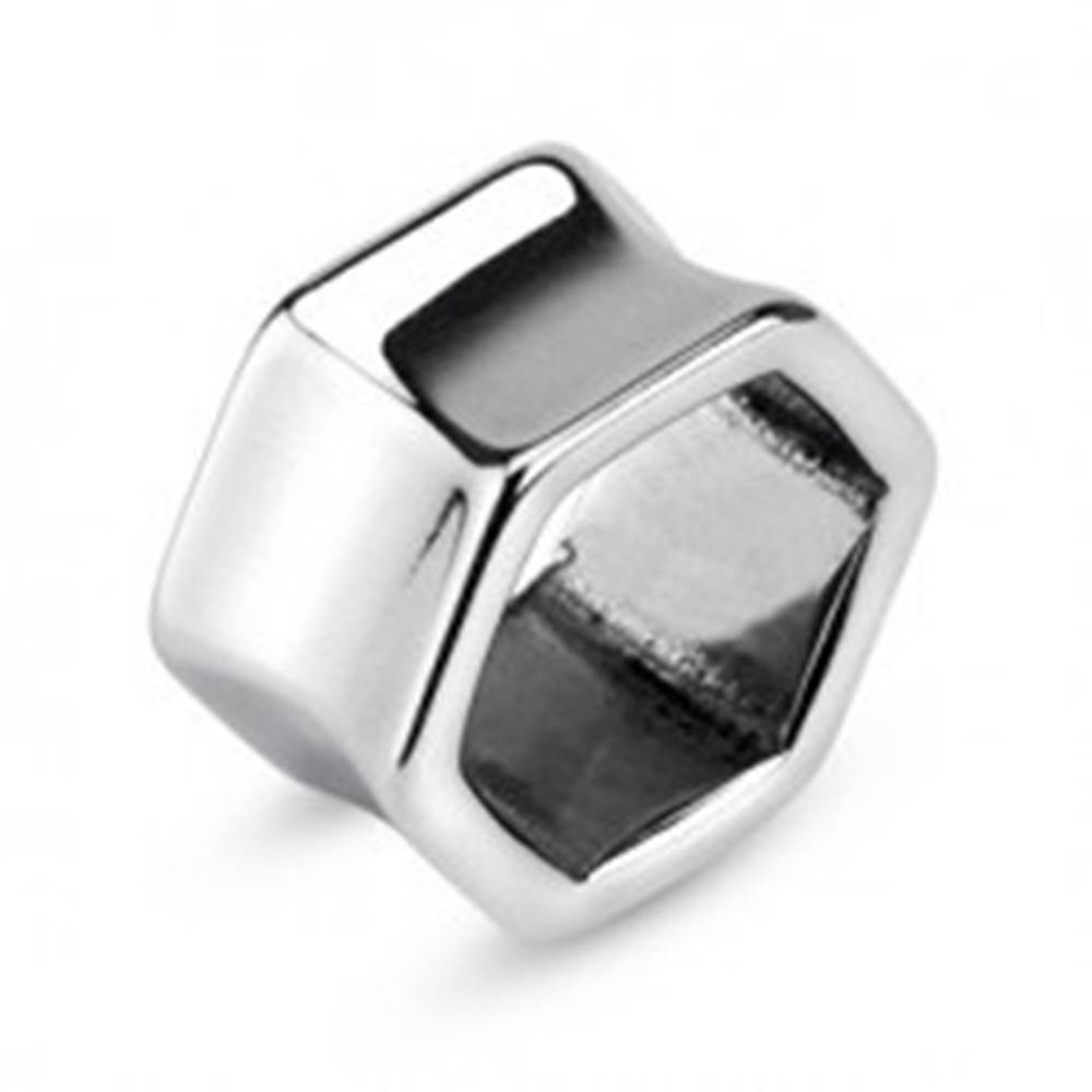 Šperky eshop Šesťuholníkový tunel do ucha - chirurgická oceľ - Hrúbka: 10 mm