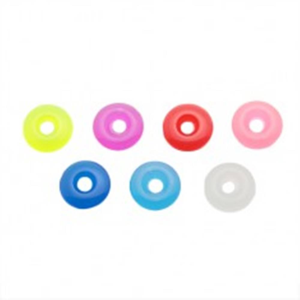 Šperky eshop Akrylové farebné koliesko na piercing - prívesok na činku - Farba: Červená