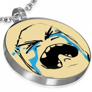Prívesok MEME z ocele - CRYING BAWW FACE