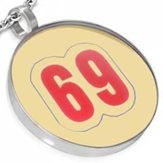 Prívesok z ocele - kruhový, číslo 69