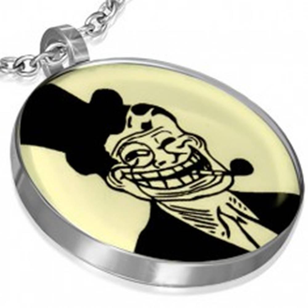 Šperky eshop Prívesok MEME z ocele - TROLL DAD