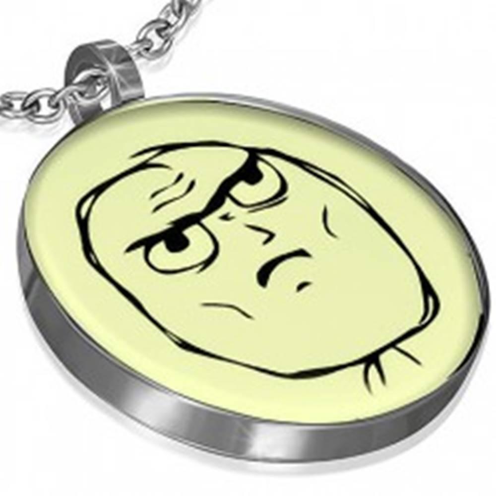 Šperky eshop Prívesok z ocele, MEME FACE - DETERMINED