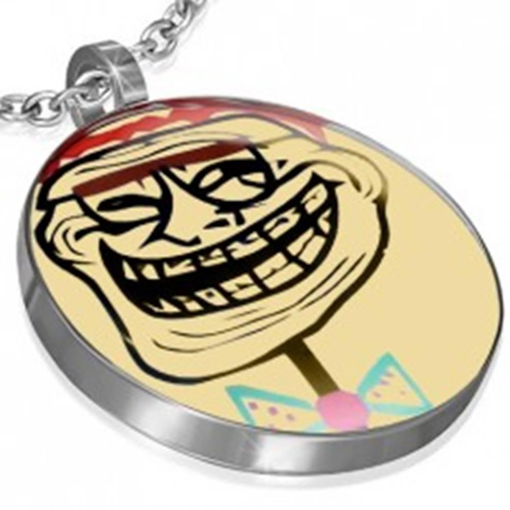 Šperky eshop Prívesok z ocele - TROLL FACE MELVIN MEME