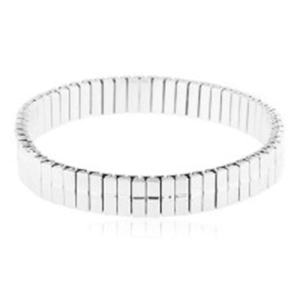 Šperky eshop Rozťahovací náramok z chirurgickej ocele, úzke články s vypuklým pásom