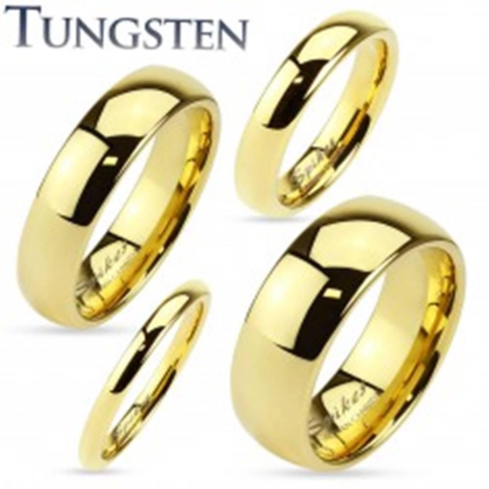 Šperky eshop Tungstenová obrúčka zlatej farby, lesklý a hladký povrch, 2 mm - Veľkosť: 47 mm