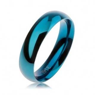 Modrá oceľová obrúčka, hladký zaoblený povrch, vysoký lesk, 5 mm - Veľkosť: 51 mm