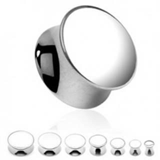 Oceľový plug do ucha - sedlový, plný, zrkadlovo lesklý - Hrúbka: 10 mm