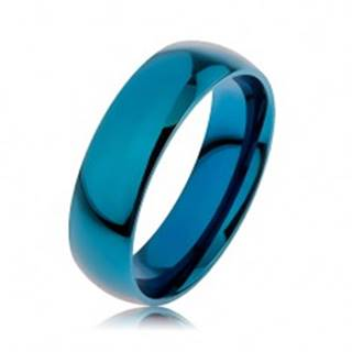 Prsteň z chirurgickej ocele v modrej farbe, povrch anodizovaný titánom, 6 mm - Veľkosť: 56 mm