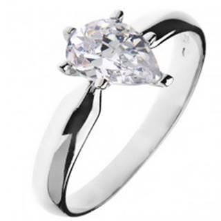 Zásnubný prsteň zo striebra 925 – zirkón v tvare slzy - Veľkosť: 49 mm