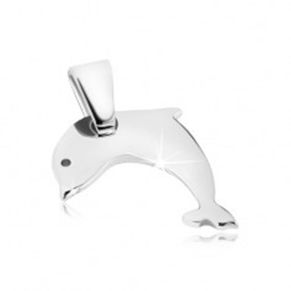 Šperky eshop Prívesok z ocele - lesklý skákajúci delfín