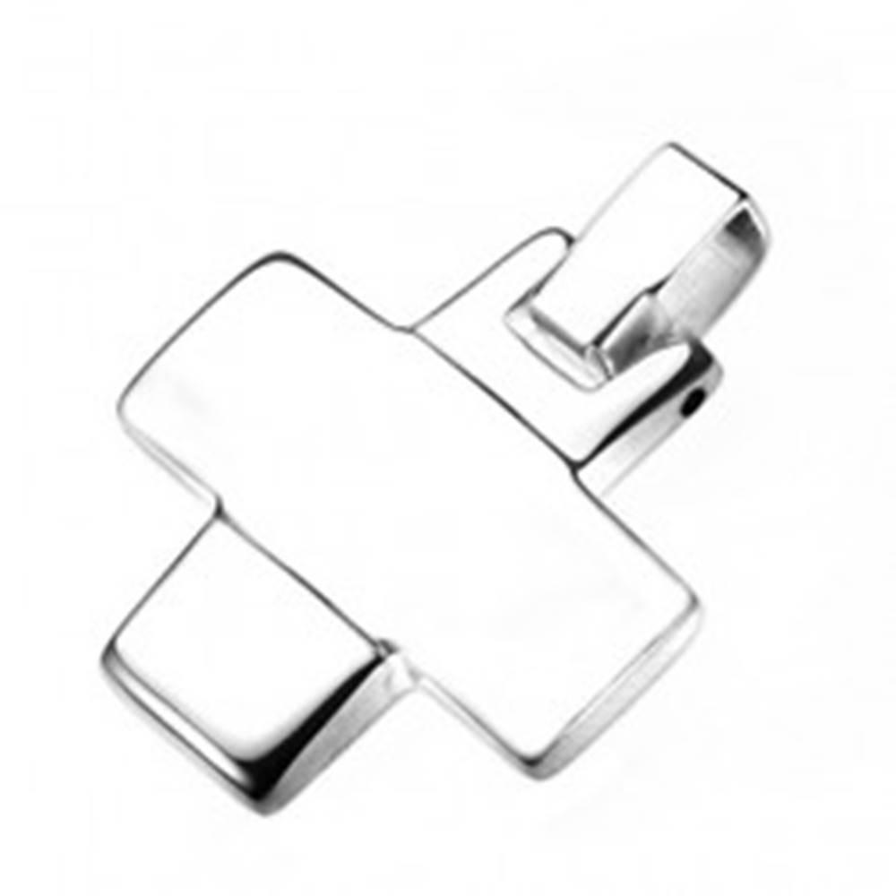 Šperky eshop Prívesok z ocele - zrkadlovo lesklý grécky krížik