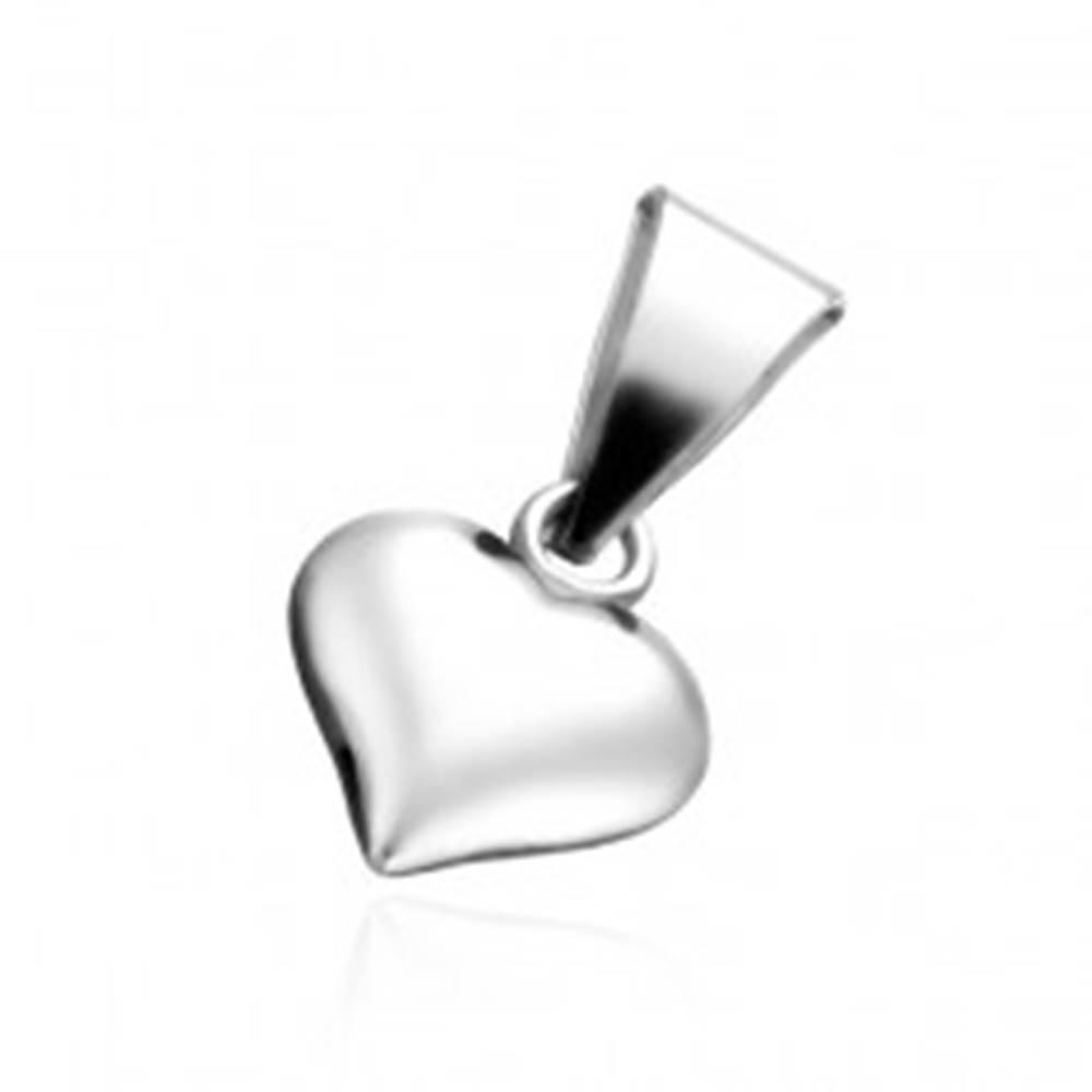 Šperky eshop Strieborný prívesok 925 - malé plné srdiečko