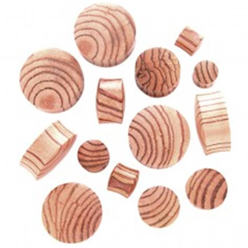 Šperky eshop Plug do ucha zo zebrového dreva, sedlový - Hrúbka: 10,5 mm