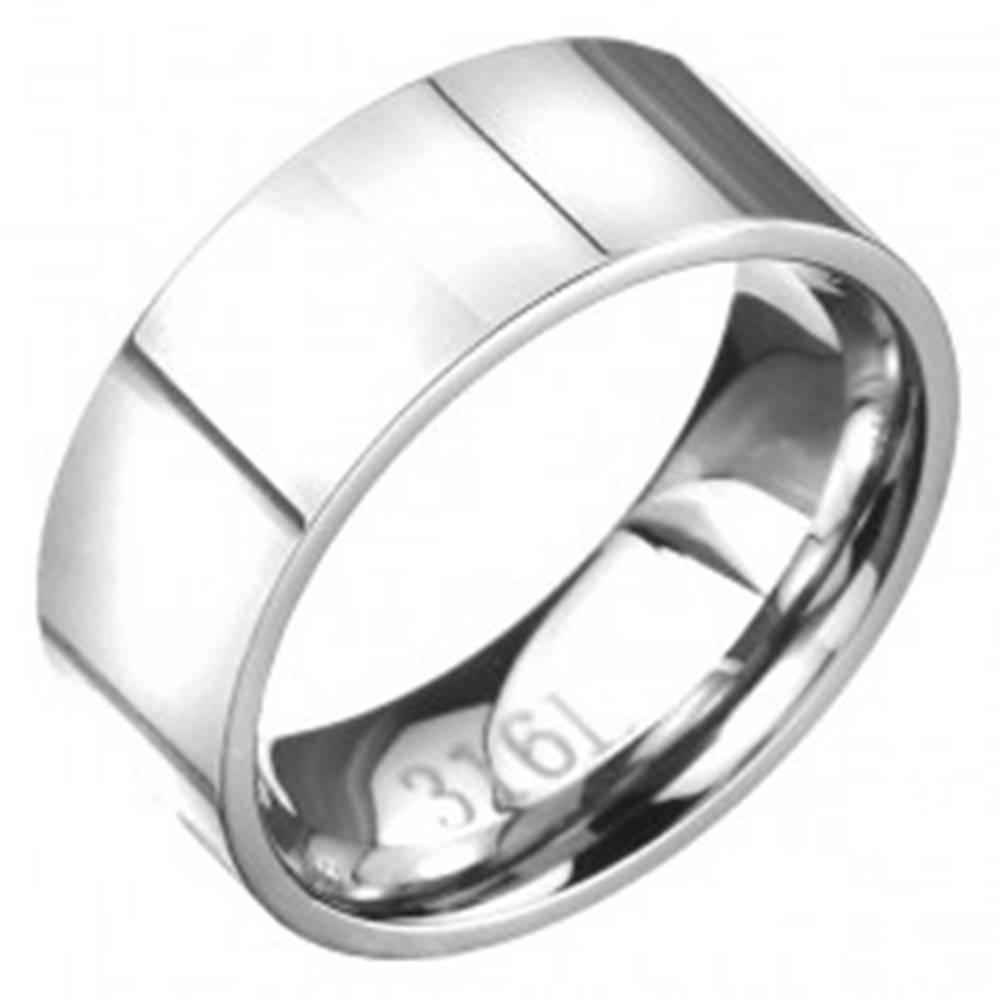 Šperky eshop Jednoduchá oceľová obrúčka v striebornej farbe - Veľkosť: 56 mm
