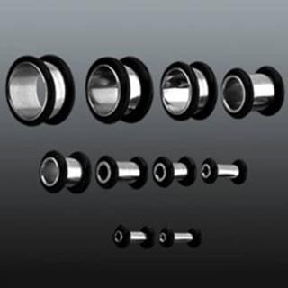 Tunnel do ucha z chirurgickej ocele s dvoma gumičkami - Hrúbka: 10 mm