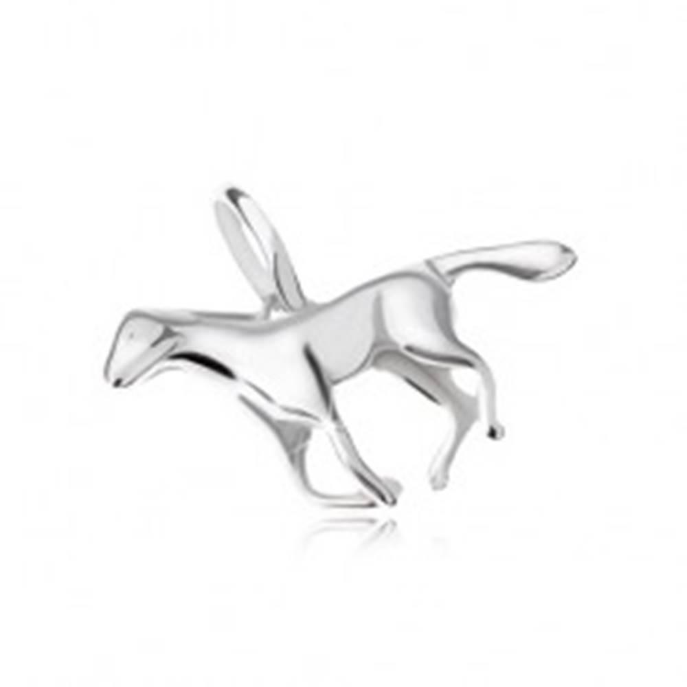 Šperky eshop Prívesok - cválajúci kôň, striebro 925