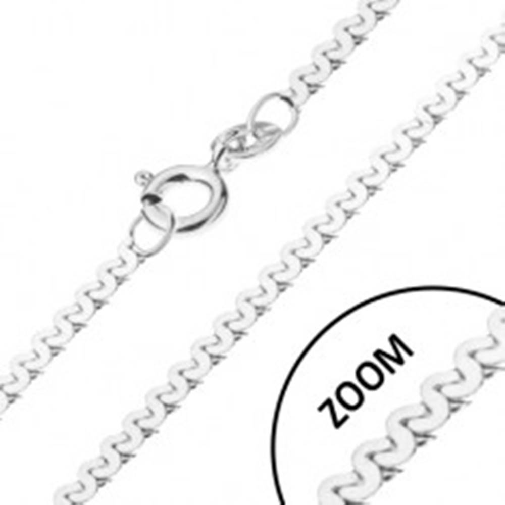 Šperky eshop Retiazka zo striebra 925 - esíčkový vzor, lesklá, šírka 1 mm, dĺžka 450 mm
