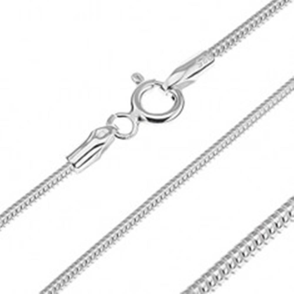 Šperky eshop Strieborná retiazka 925 - článkovaný had, 1,4 mm