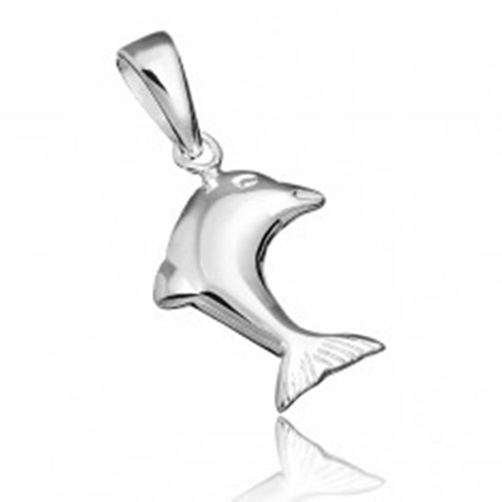Šperky eshop Strieborný prívesok 925 - skákajúci delfín