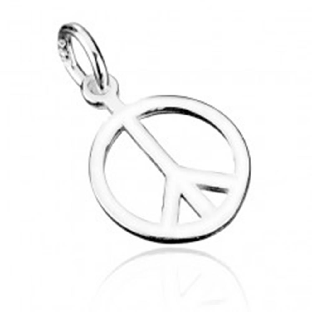 Šperky eshop Strieborný prívesok 925 - symbol mieru