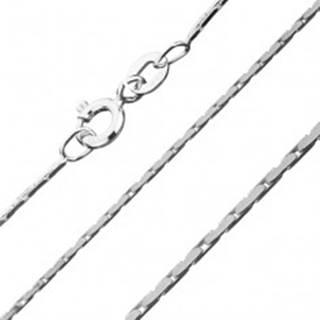 Hranatá strieborná retiazka 925 - pás plochých oválov, 0,8 mm