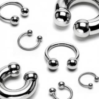 Piercing z chirurgickej ocele - lesklá podkova s guličkami basic, rôzne veľkosti - Rozmer: 1,2 mm x 10 mm x 3 mm