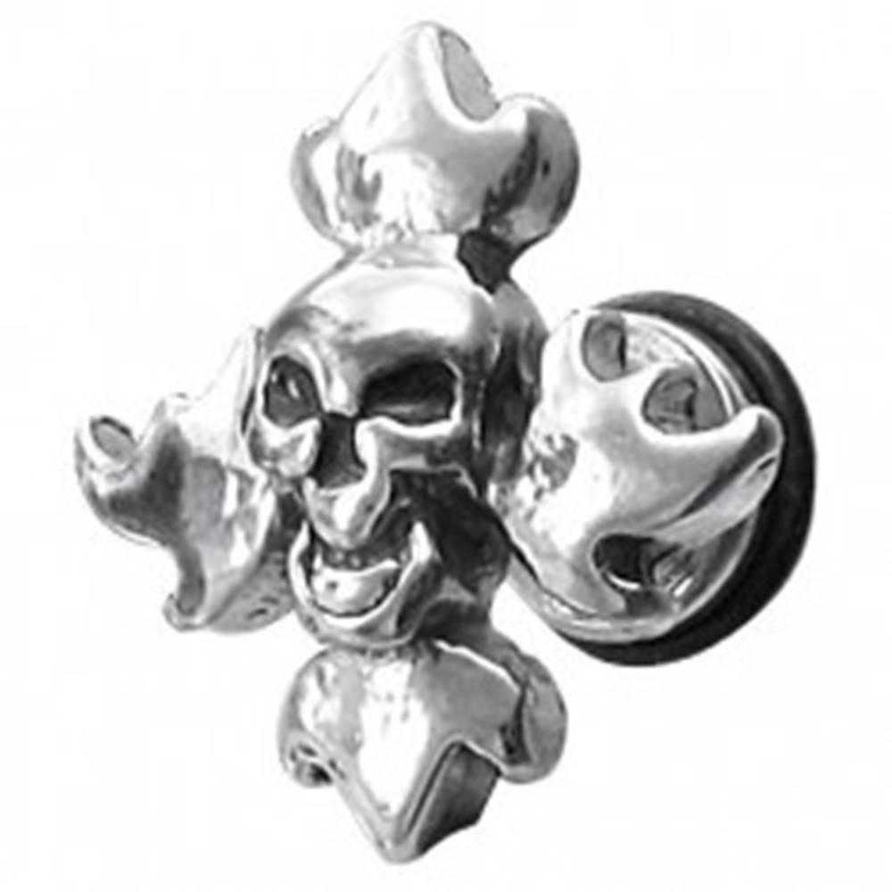 Šperky eshop Falošný piercing lebka s plameňmi